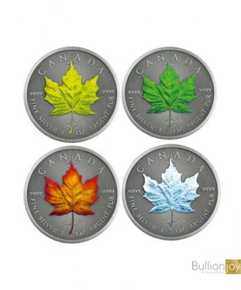 2020 1oz Canadian Maple Leaf Four Seasons Silver Coin
