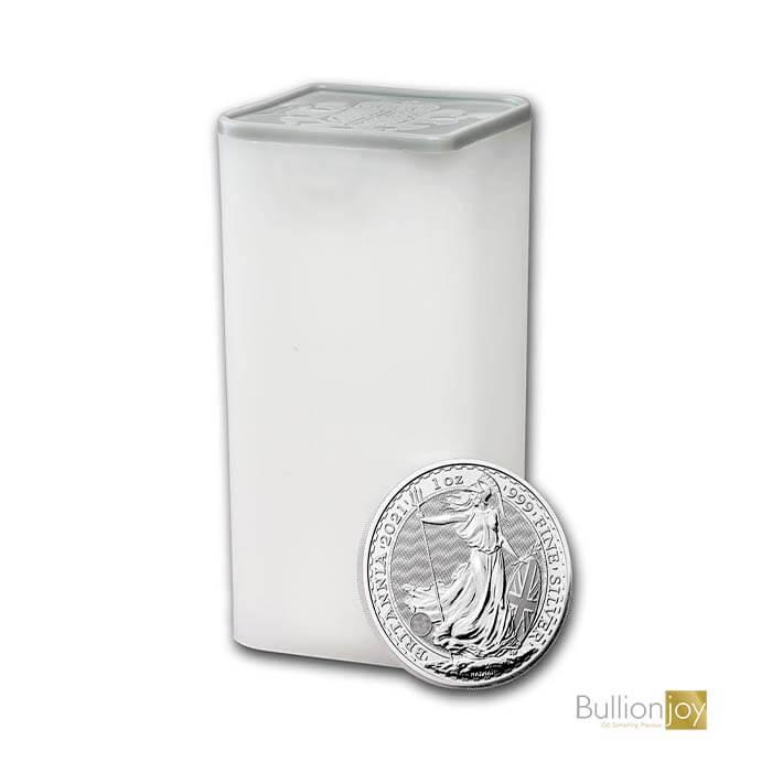 2021 1oz Silver Britannia Coin Full Tube x25