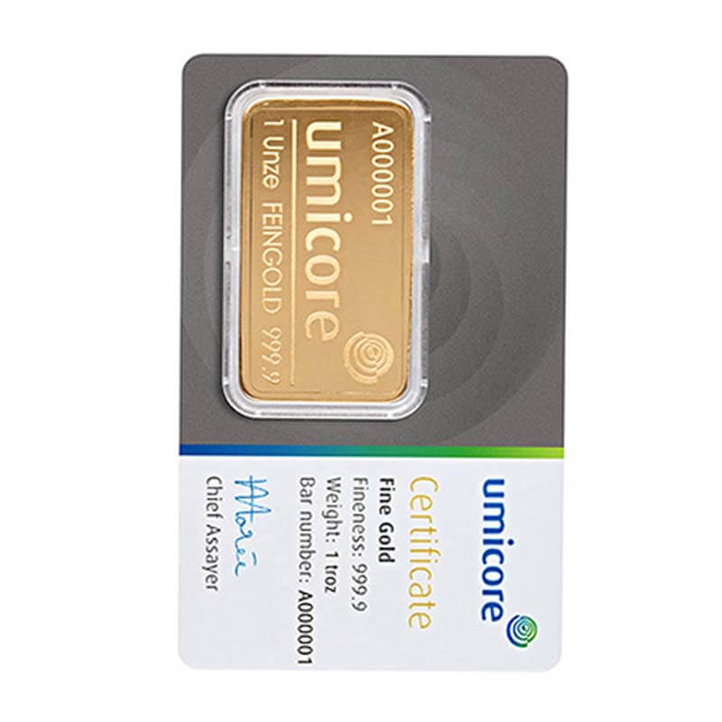 Umicore - 1oz Gold Bars Can I Buy in the UK