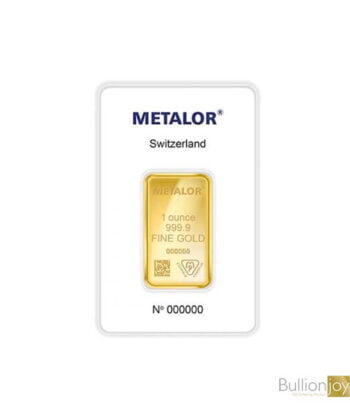1 ounce Metalor 24ct Gold Bar