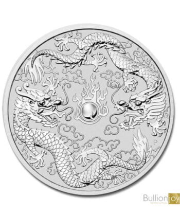 2019 1oz Australian Double Dragon Silver Coin