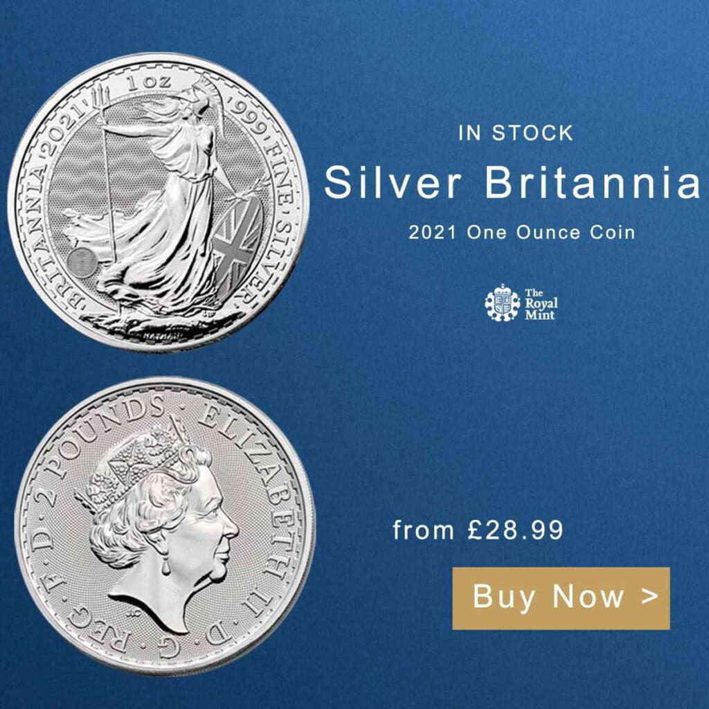 2021 1oz Silver Britannia Bullion Coin