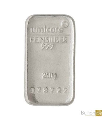 250 Gram Umicore Silver Bar