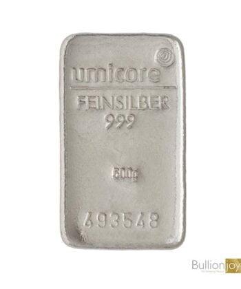 500 Gram Umicore Silver Bar