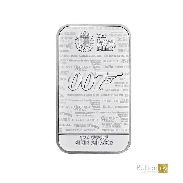 1oz James Bond No Time to Die Silver Bar