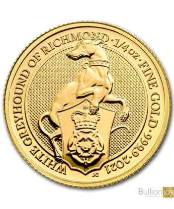 2021 1/4 Oz White Greyhound Of Richmond Gold Coin