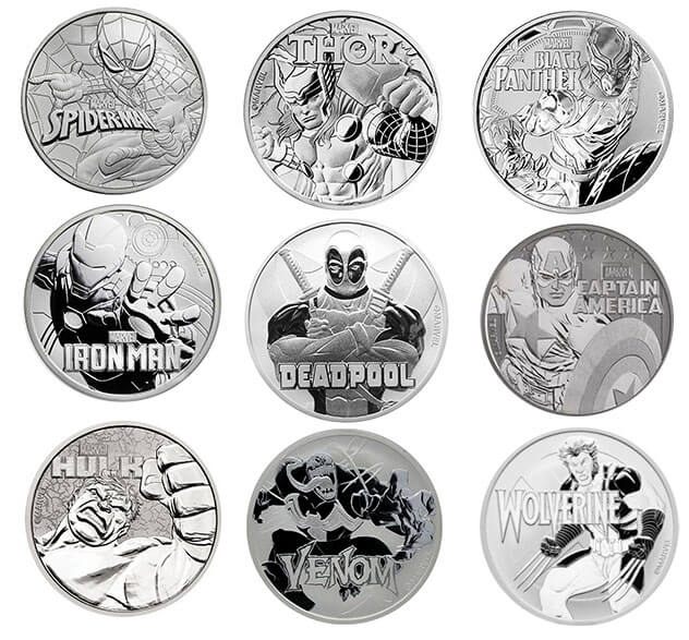 Marvel Series Silver Coins