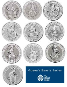 Shop Queen's Beasts 2oz and 10oz Silver Coin Collection​