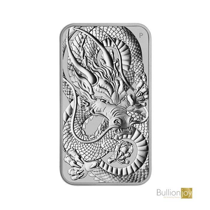2021 1oz Rectangular Dragon Silver Coin